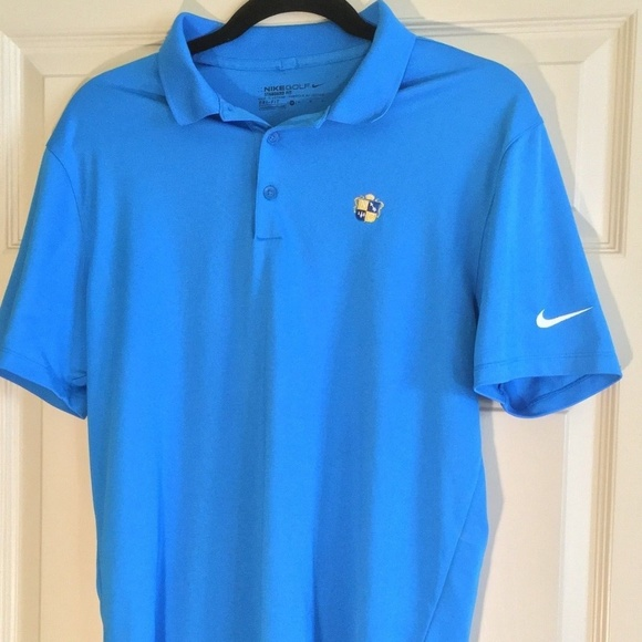 35d74ed72eb06 Nike Golf Light Blue Polo Shirt Mens DRI FIT A5
